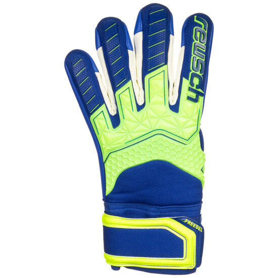 Attrakt Freegel S1 Finger Support LTD Torwarthandschuh Herren, neongelb / blau, zoom bei OUTFITTER Online