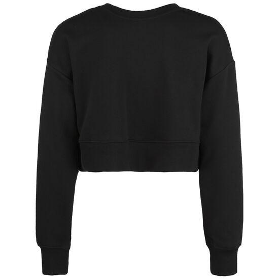 Essential Icon Crew Sweatshirt Damen, schwarz / rot, zoom bei OUTFITTER Online