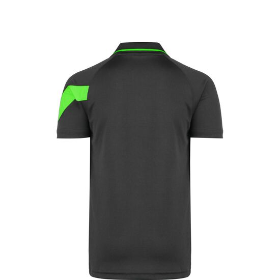 Academy Poloshirt Kinder, anthrazit / neongrün, zoom bei OUTFITTER Online