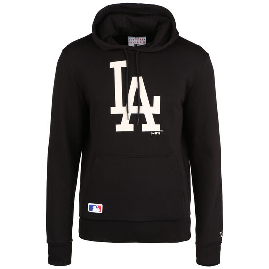 MLB Los Angeles Dodgers Seasonal Team Logo Kapuzenpullover Herren, schwarz / weiß, zoom bei OUTFITTER Online