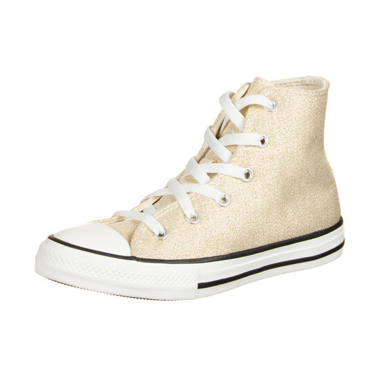 Chuck Taylor All Star High Sneaker Kinder, gold / weiß, zoom bei OUTFITTER Online