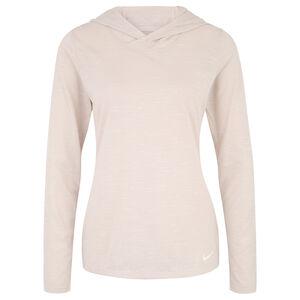 Dry Trainingskapuzenpullover Damen, beige / weiß, zoom bei OUTFITTER Online