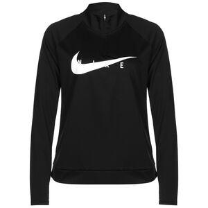 Swoosh Run Laufshirt Damen, schwarz / weiß, zoom bei OUTFITTER Online