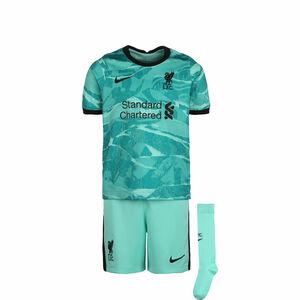 FC Liverpool Minikit Away 2020/2021 Kinder, türkis / schwarz, zoom bei OUTFITTER Online
