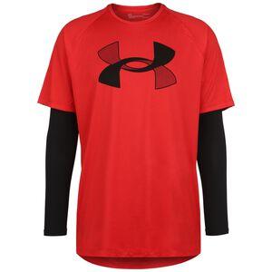 Big Logo Tech Trainingsshirt Herren, rot, zoom bei OUTFITTER Online
