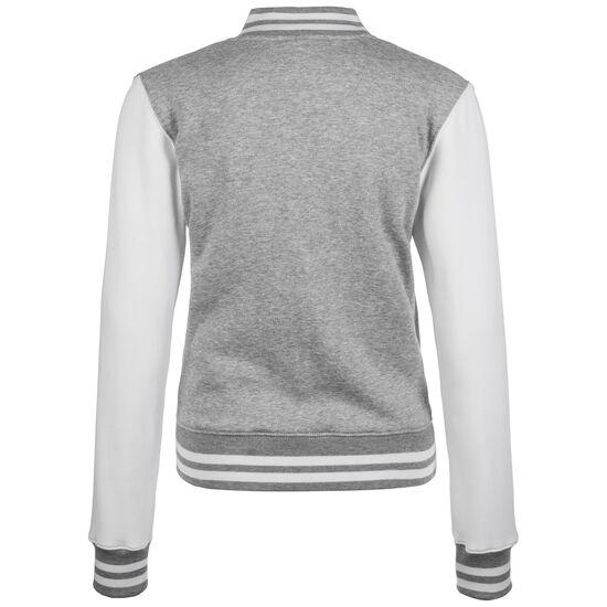 2-tone College Jacke Damen, grau / weiß, zoom bei OUTFITTER Online