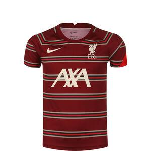 FC Liverpool Pre-Match Trainingsshirt Kinder, dunkelrot / weiß, zoom bei OUTFITTER Online