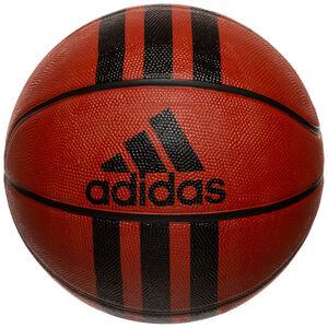 3-Stripes Basketball, dunkelrot / schwarz, zoom bei OUTFITTER Online