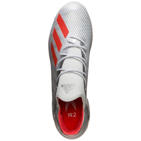 X 19.2 FG Fußballschuh Herren, silber / rot, zoom bei OUTFITTER Online