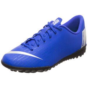Mercurial VaporX XII Academy TF Fußballschuh Kinder, blau / silber, zoom bei OUTFITTER Online