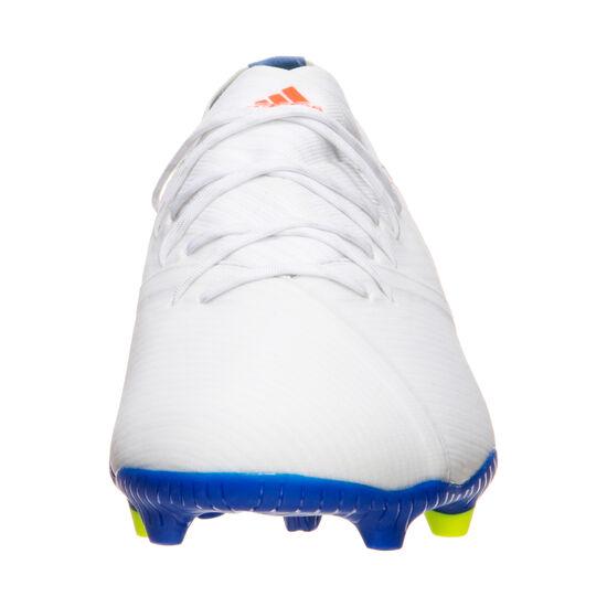 Nemeziz Messi 19.1 FG Fußballschuh Kinder, weiß / rot, zoom bei OUTFITTER Online