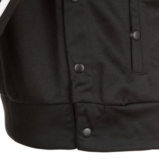 ID 3-Streifen Snap Trainingsjacke Damen, schwarz / weiß, zoom bei OUTFITTER Online