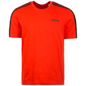 Essentials 3 Stripes Trainingsshirt Herren, rot / schwarz, zoom bei OUTFITTER Online