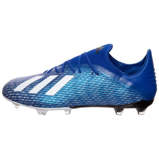 X 19.2 FG Fußballschuh Herren, blau / weiß, zoom bei OUTFITTER Online