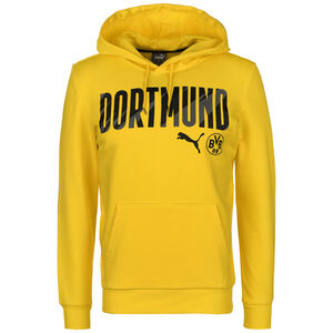 Borussia Dortmund BVB ftblCore Wording Kapuzenpullover Herren, gelb / schwarz, zoom bei OUTFITTER Online