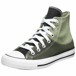 Chuck Taylor All Star Split Upper High Sneaker, dunkelgrün / hellgrün, zoom bei OUTFITTER Online