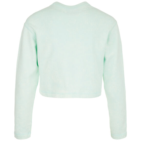 Cropped Crew Sweatshirt Damen, mint / weiß, zoom bei OUTFITTER Online