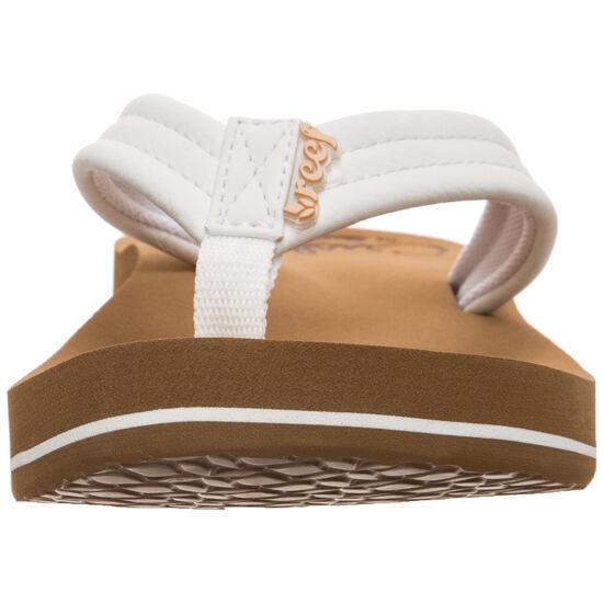 Cushion Breeze Zehentrenner Damen, weiß / braun, zoom bei OUTFITTER Online