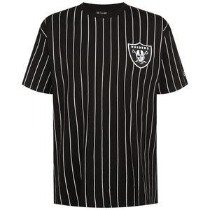 NFL Las Vegas Raiders Pinstripe Left Logo T-Shirt Herren, schwarz / weiß, zoom bei OUTFITTER Online