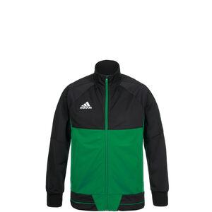 Tiro 17 Trainingsjacke Kinder, schwarz / grün, zoom bei OUTFITTER Online