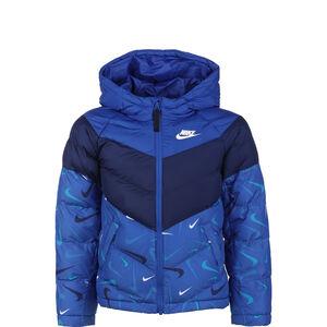 Therma-FIT Winterjacke Kinder, blau / weiß, zoom bei OUTFITTER Online