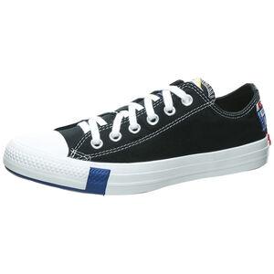 Chuck Taylor All Star Logo Stacked OX Sneaker Damen, schwarz / blau, zoom bei OUTFITTER Online