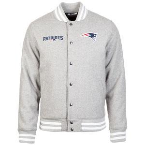 NFL Team App New England Patriots Bomber Jacke Herren, hellgrau, zoom bei OUTFITTER Online