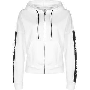 Training Essentials Linear Logo Kapuzenjacke Damen, weiß / schwarz, zoom bei OUTFITTER Online