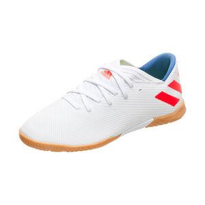 Nemeziz Messi 19.3 Indoor Fußballschuh Kinder, weiß / rot, zoom bei OUTFITTER Online