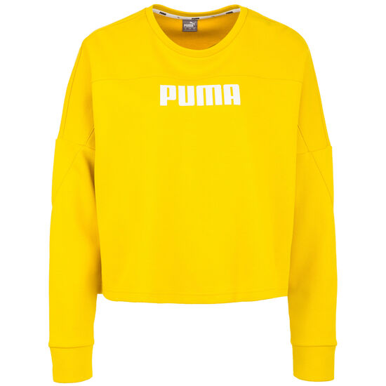 NU-TILITY Cropped Crew Sweatshirt Damen, gelb, zoom bei OUTFITTER Online