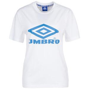 Boyfriend Fit Logo T-Shirt Damen, weiß / blau, zoom bei OUTFITTER Online