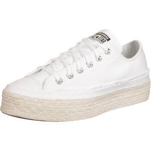 Chuck Taylor All Star Espadrille OX Sneaker Damen, weiß / beige, zoom bei OUTFITTER Online