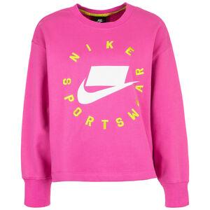 Crew Fleece Sweatshirt Damen, pink / weiß, zoom bei OUTFITTER Online