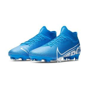 Mercurial Superfly VII Pro FG Fußballschuh Herren, blau / weiß, zoom bei OUTFITTER Online