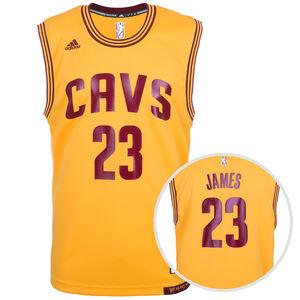 Cavaliers James Replica Basketballtrikot Herren, Gelb, zoom bei OUTFITTER Online