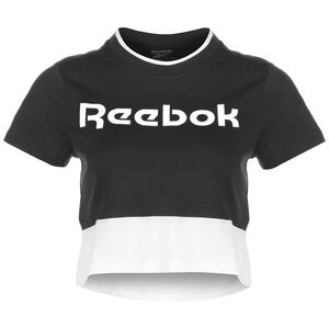 Essentials Linear Logo T-Shirt Damen, schwarz / weiß, zoom bei OUTFITTER Online