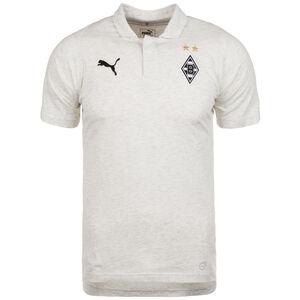 Borussia Mönchengladbach Casuals Poloshirt Herren, hellgrau / schwarz, zoom bei OUTFITTER Online