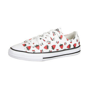 Chuck Taylor All Star OX Sneaker Kinder, weiß / rot, zoom bei OUTFITTER Online