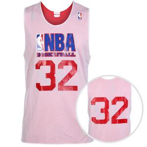 NBA All Star #32 Magics Johnson Reversible Practice Basketballtrikot Herren, weiß / rot, zoom bei OUTFITTER Online