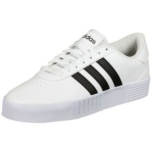 Court Bold Sneaker Damen, weiß / schwarz, zoom bei OUTFITTER Online