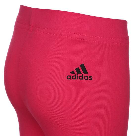 Logo Leggings Kinder, pink / schwarz, zoom bei OUTFITTER Online