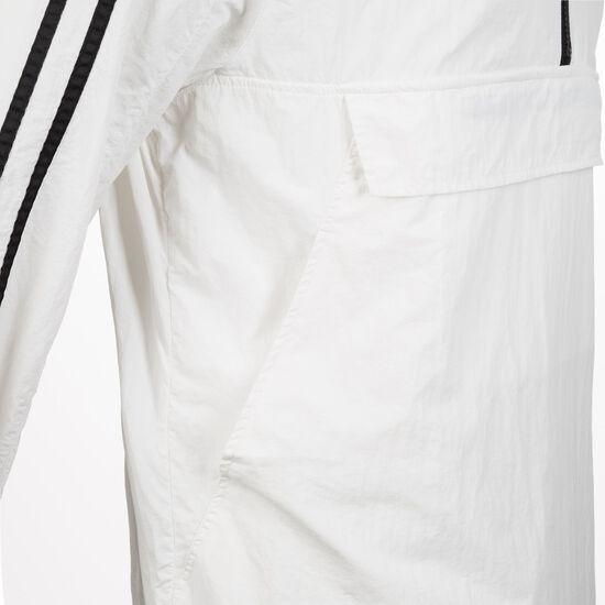 Crinkle Nylon Pull Over Windbreaker Herren, weiß / schwarz, zoom bei OUTFITTER Online