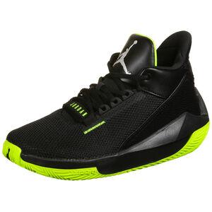 Jordan 2X3 Basketballschuh Herren, schwarz / neongelb, zoom bei OUTFITTER Online
