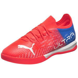 ULTRA 3.3 Indoor Fußballschuh, neonrot / weiß, zoom bei OUTFITTER Online