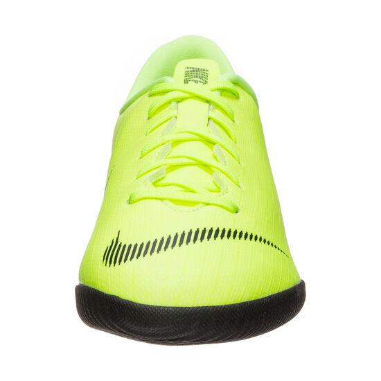 Mercurial VaporX XII Academy Indoor Fußballschuh Kinder, gelb / schwarz, zoom bei OUTFITTER Online