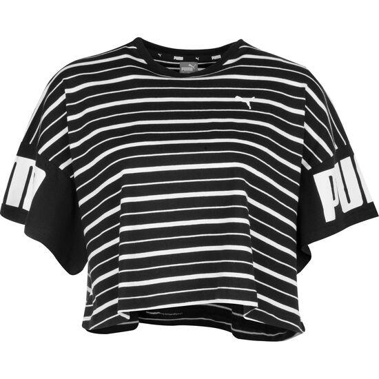 Rebel Striped T-Shirt Damen, schwarz, zoom bei OUTFITTER Online