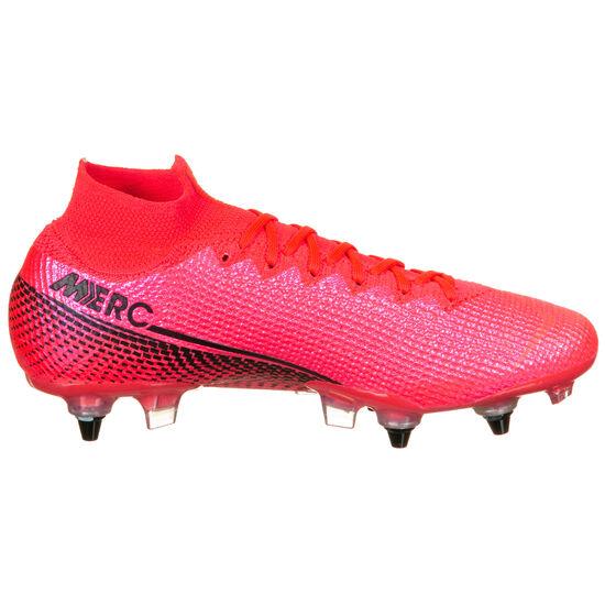 Mercurial Superfly 7 Elite DF AC SG-Pro Fußballschuh Herren, neonrot / schwarz, zoom bei OUTFITTER Online