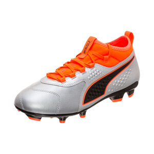 ONE 3 Leather FG Fußballschuh Kinder, Silber, zoom bei OUTFITTER Online