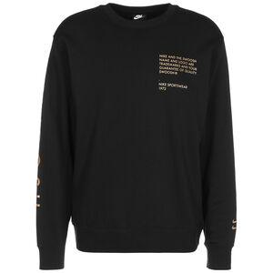 Swoosh Sweatshirt Herren, schwarz / gold, zoom bei OUTFITTER Online