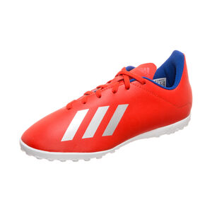 X 18.4 TF Fußballschuh Kinder, rot / silber, zoom bei OUTFITTER Online